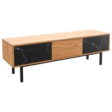 """AVF Group Skyline 55"""" TV Stand in Black and Walnut, , large"""