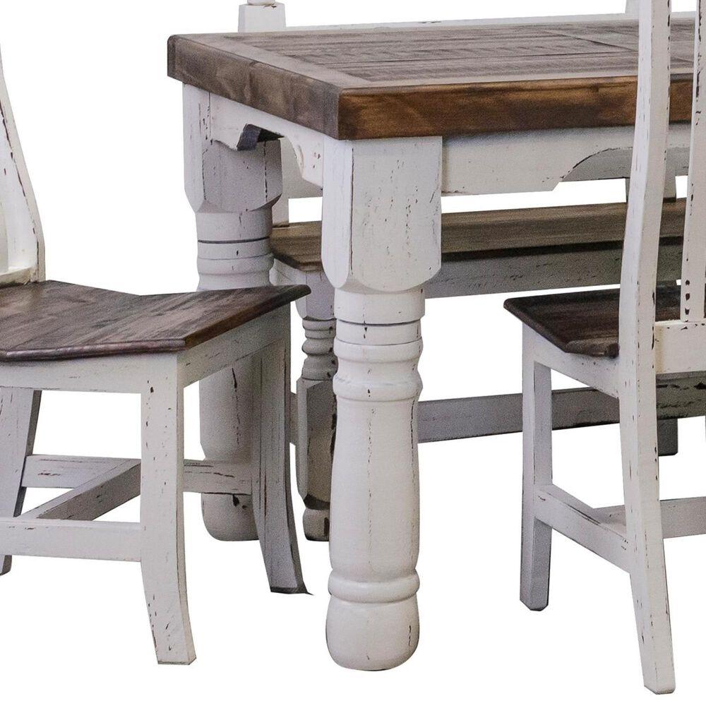 Rustic Imports Santa Rita 6-Piece Dining Set in Aged White, , large