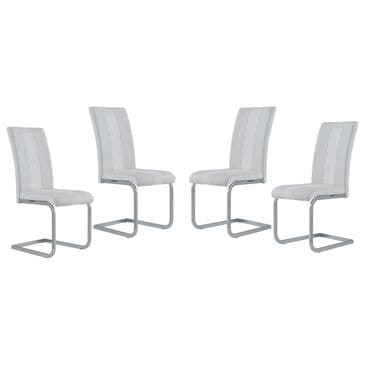 Global Furniture USA Dining Chair in White (Set of 4), , large