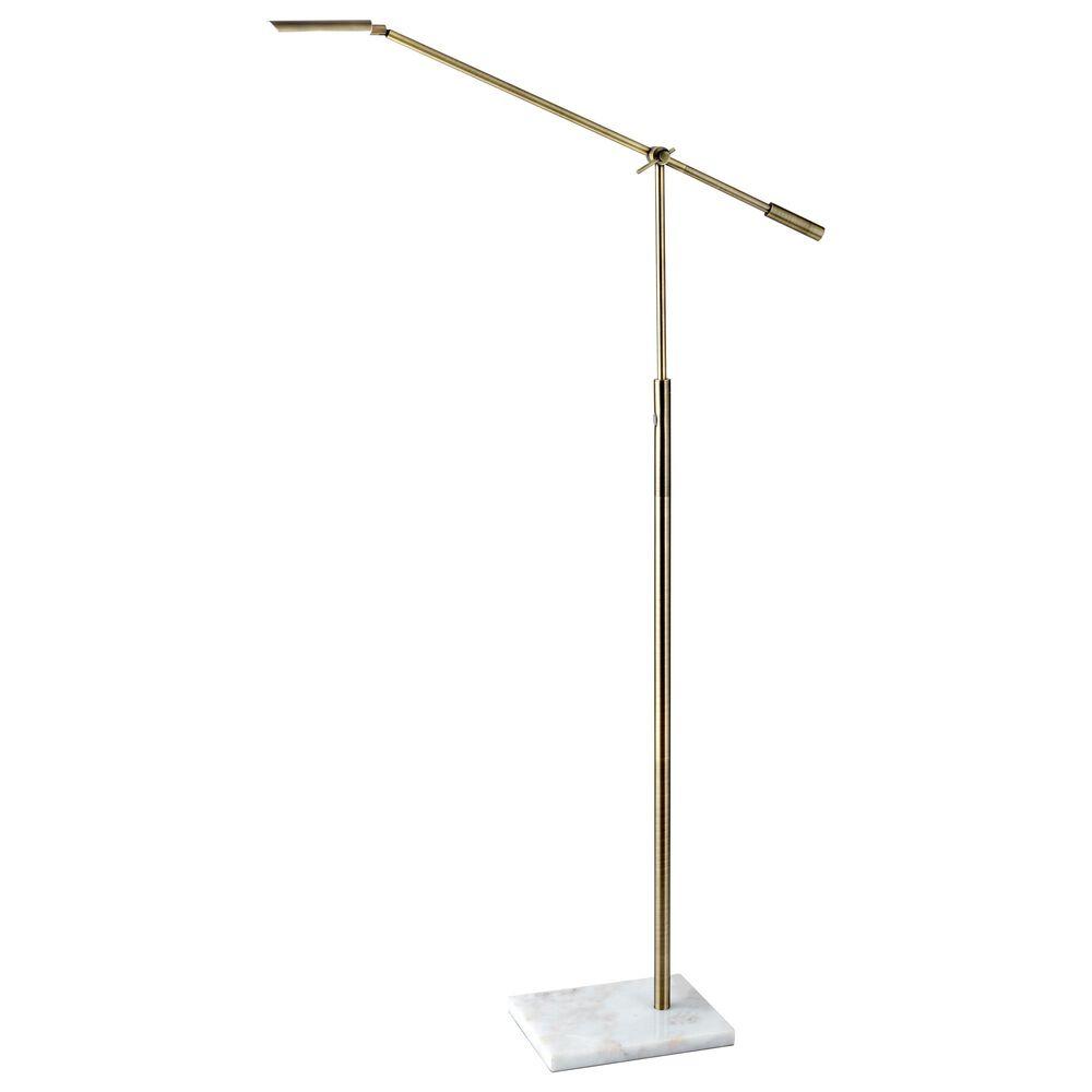 Adesso Vera LED Floor Lamp in Antique Brass, , large