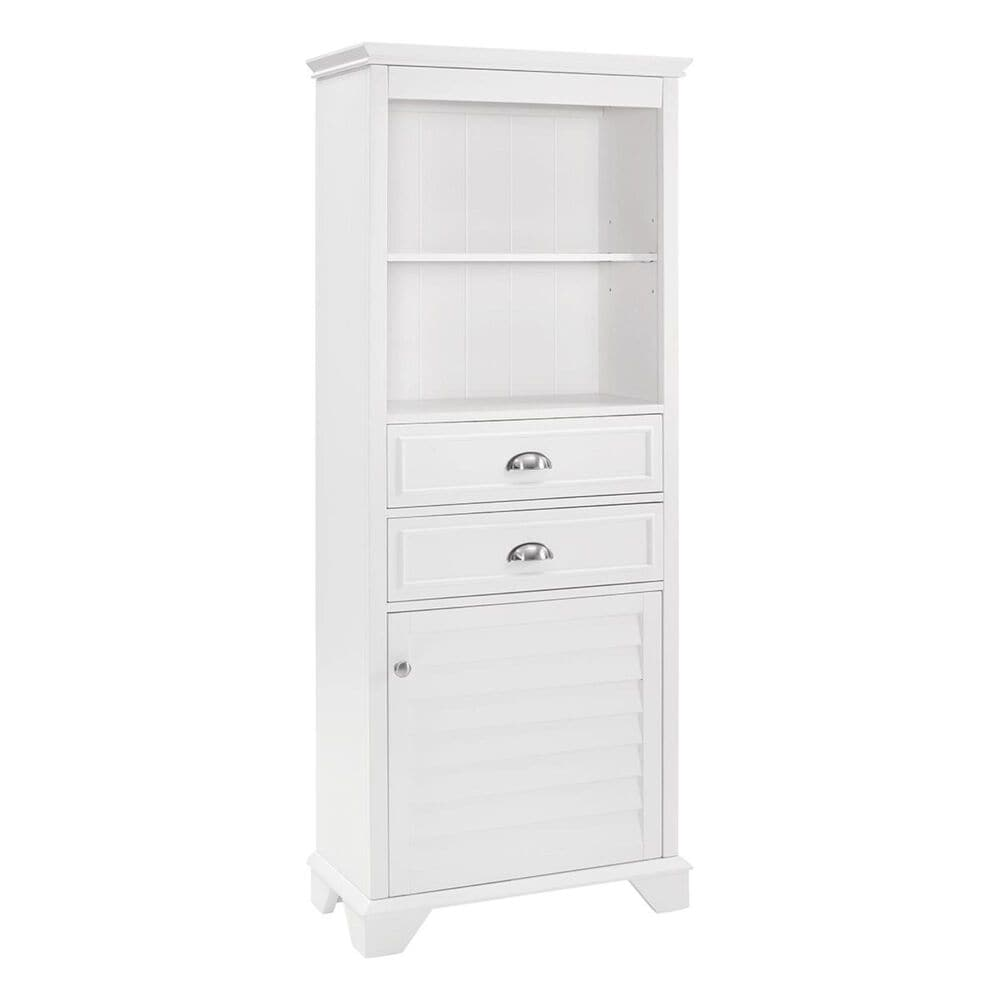 Crosley Furniture Lydia Tall Cabinet in White, , large