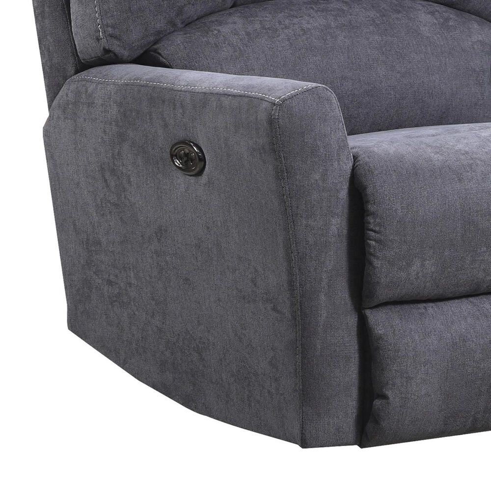 Simmons Upholstery Power Rocker Recliner in Pacific Fog, , large