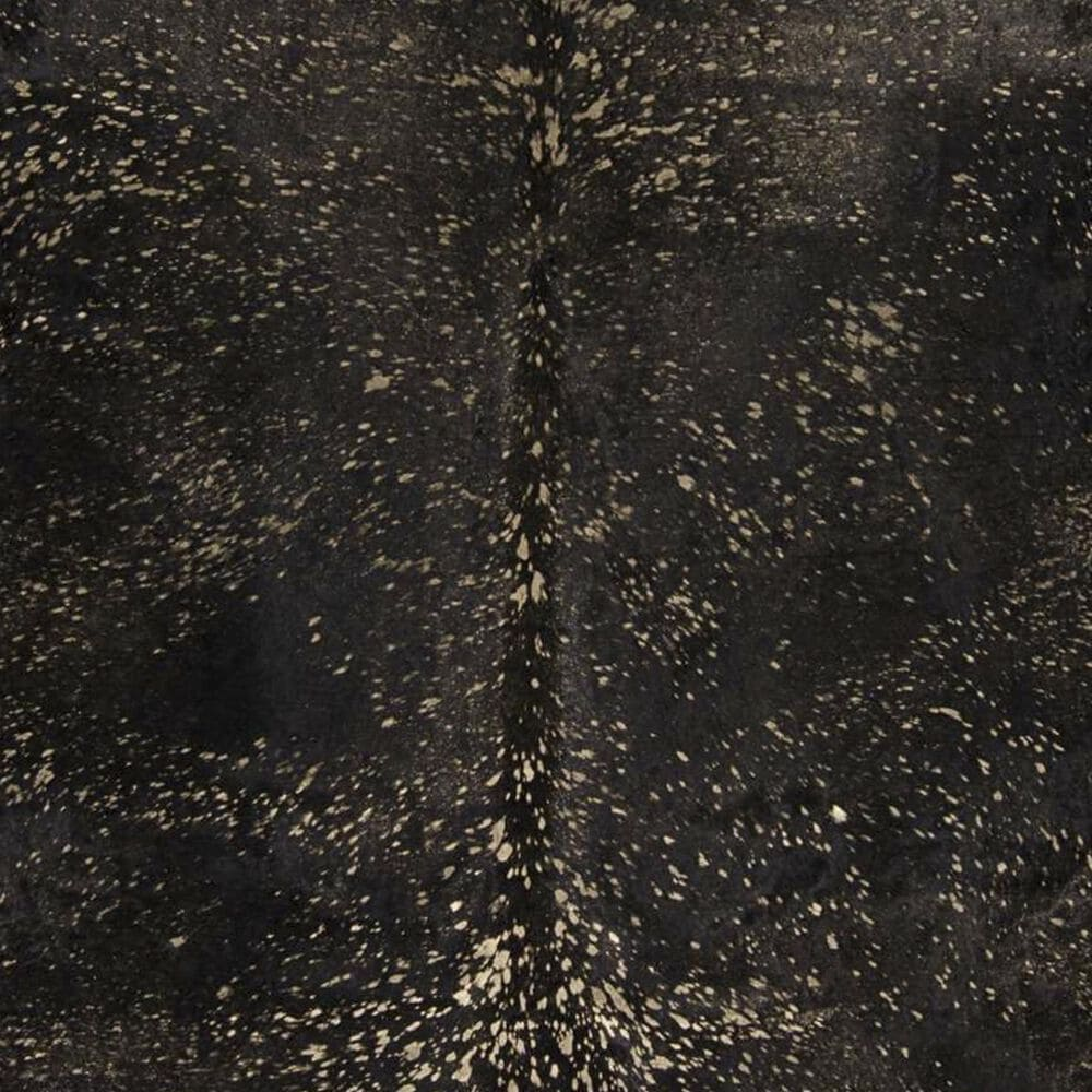 Nourison Couture BR100 5' x 8' Black and Gold Hide Area Rug, , large