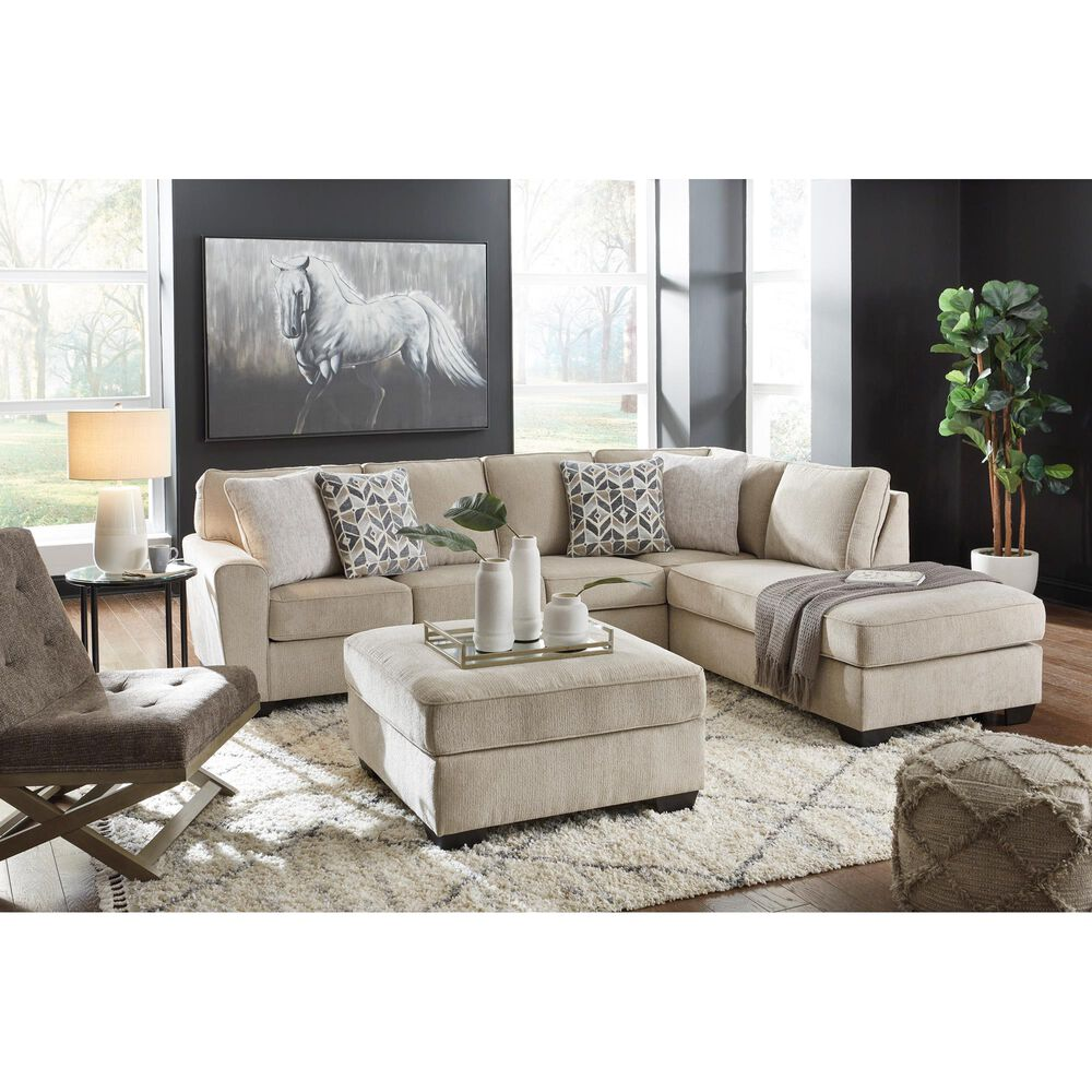 Signature Design by Ashley Decelle Oversized Accent Ottoman in Putty, , large