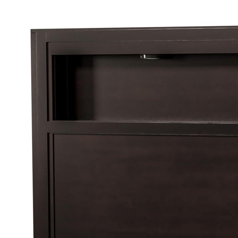 Furniture of America Castillo Queen Bookcase Headboard in Espresso, , large