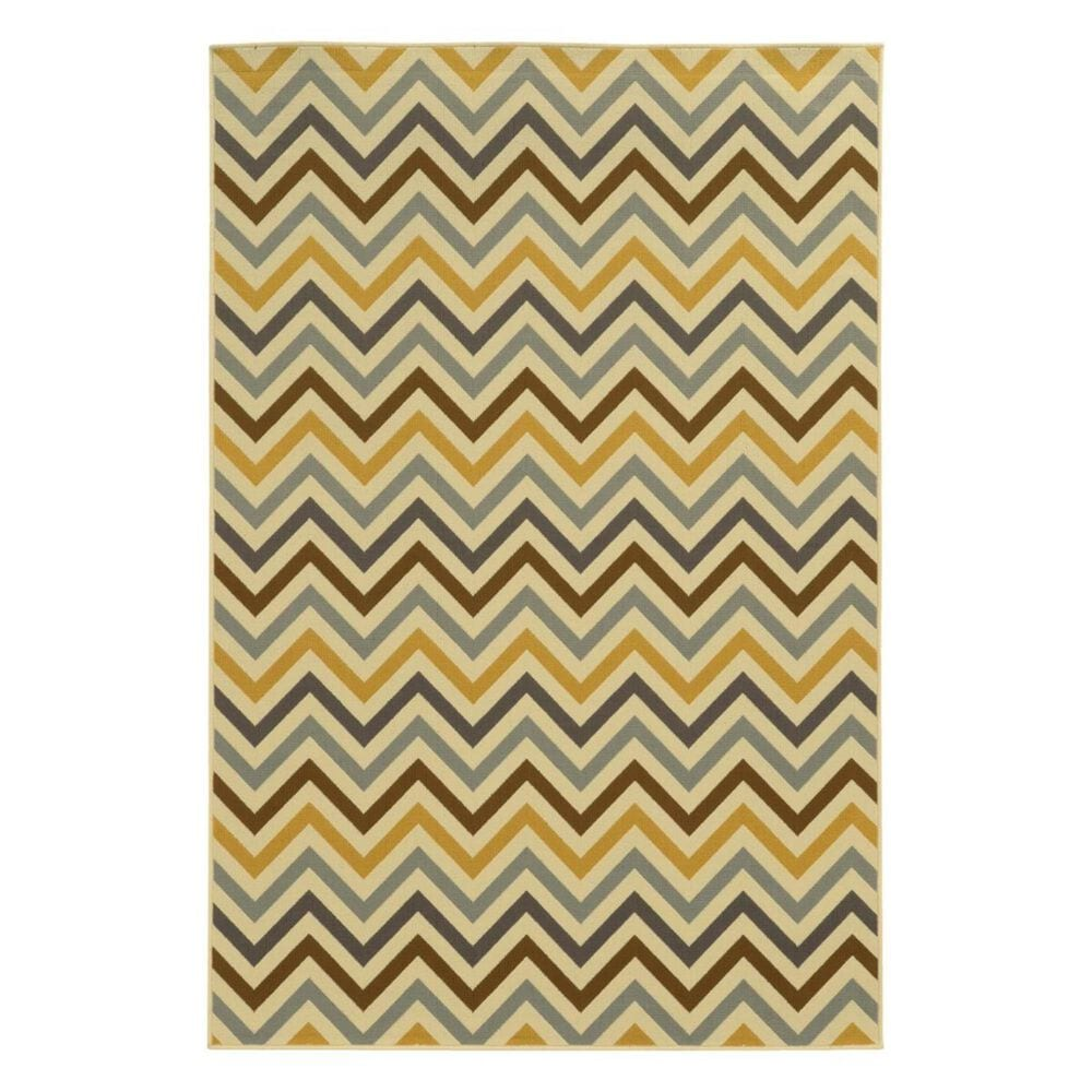 """Oriental Weavers Riviera 4593A 2""""5"""" x 4""""5"""" Ivory Area Rug, , large"""