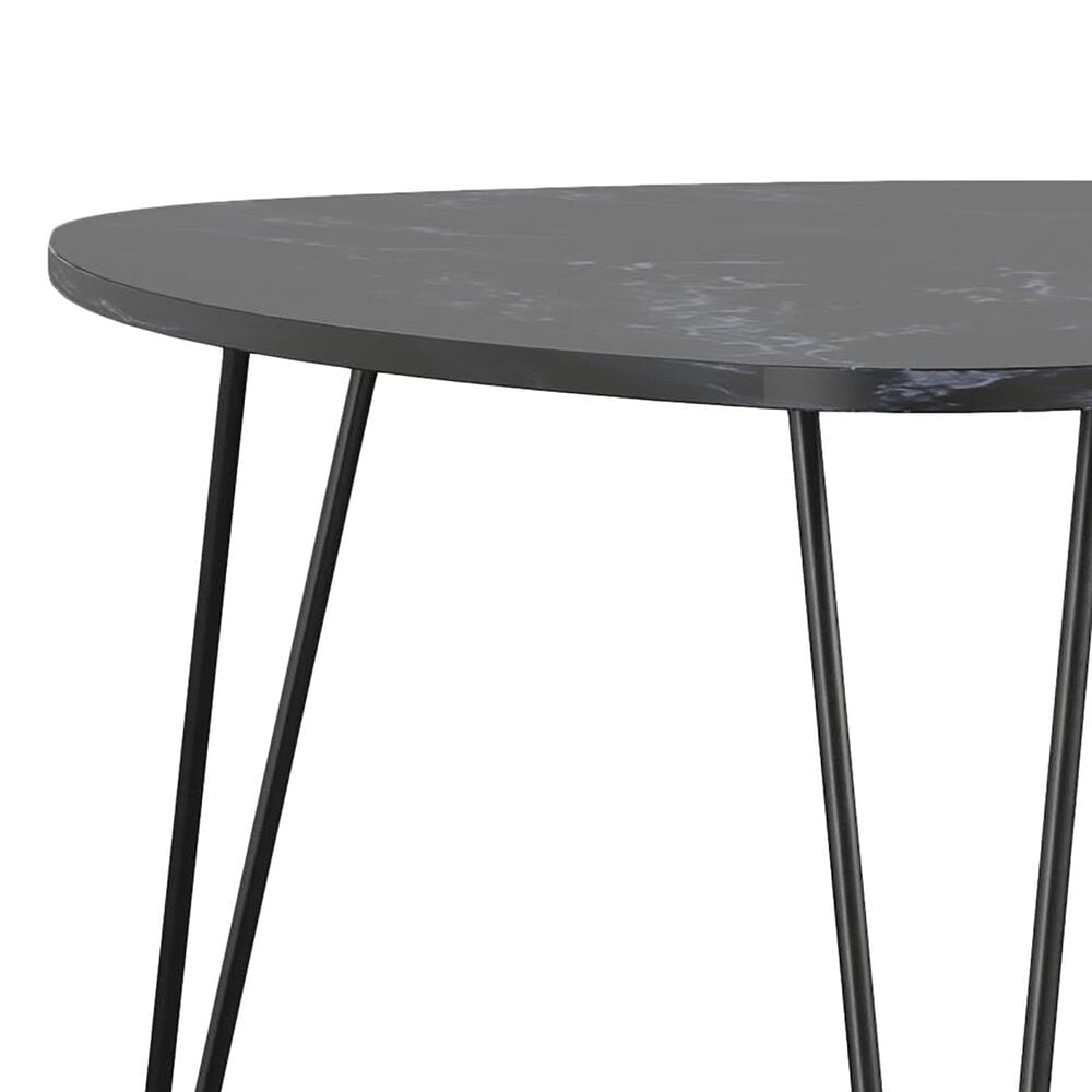 Novogratz Athena Nesting Tables in Black Marble, , large