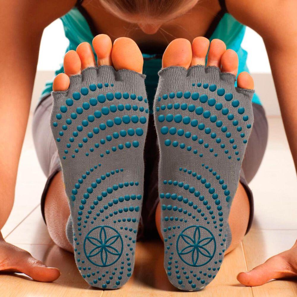 Gaiam Toe-less Yoga Socks (S/M), , large