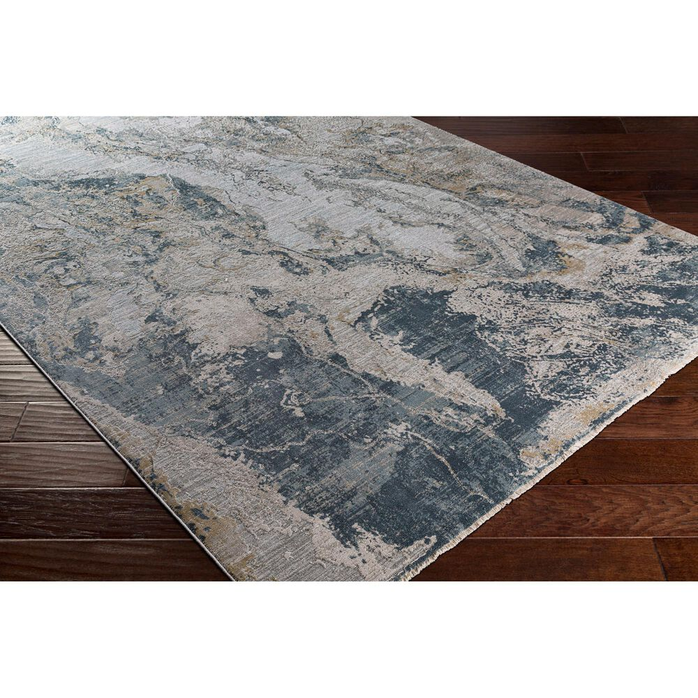 "Surya Brunswick 7'10"" x 10'3"" Sage, Gray, White and Blue Area Rug, , large"