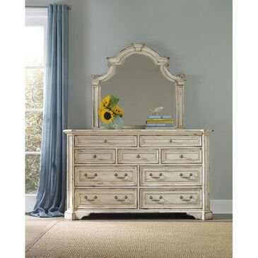 Hooker Furniture Sanctuary Brighton 9 Drawer Dresser in Vintage Chalky White, , large