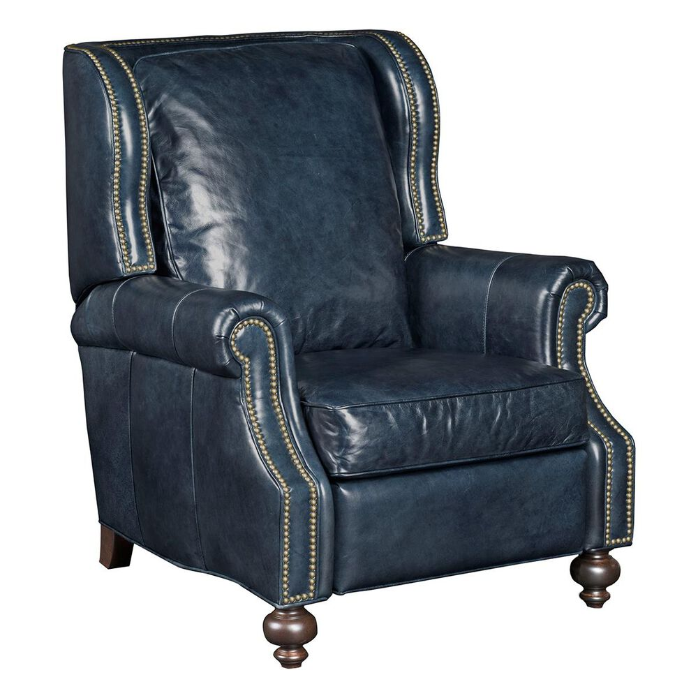 Hooker Furniture Wing Back Leather Recliner in Balmoral Maurice, , large