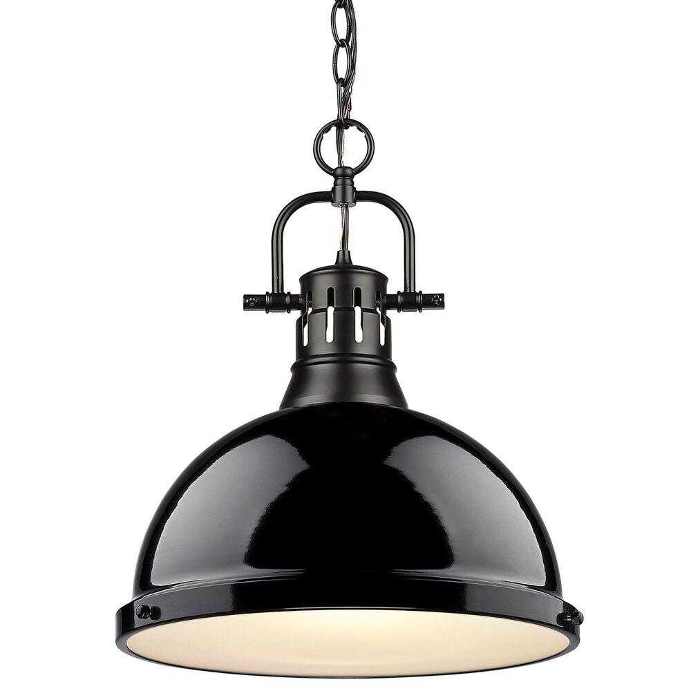 Golden Lighting Duncan 1-Light Pendant in Matte Black, , large