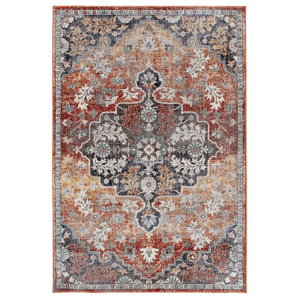 Central Oriental Minerva Edwina 7210PV 5' x 7' Spring and Vintage Blue Area Rug, , large