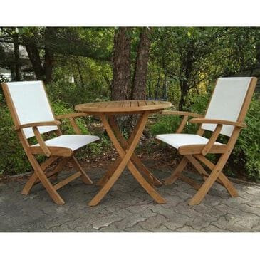 Three Birds Casual Cambridge 3-Piece Chat Set with Two White Sling Side Chairs, , large