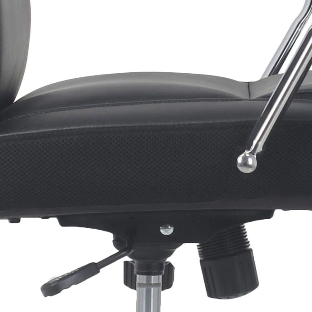Global Seating High-Back Executive Chair with Chrome Base in Onyx Black, , large
