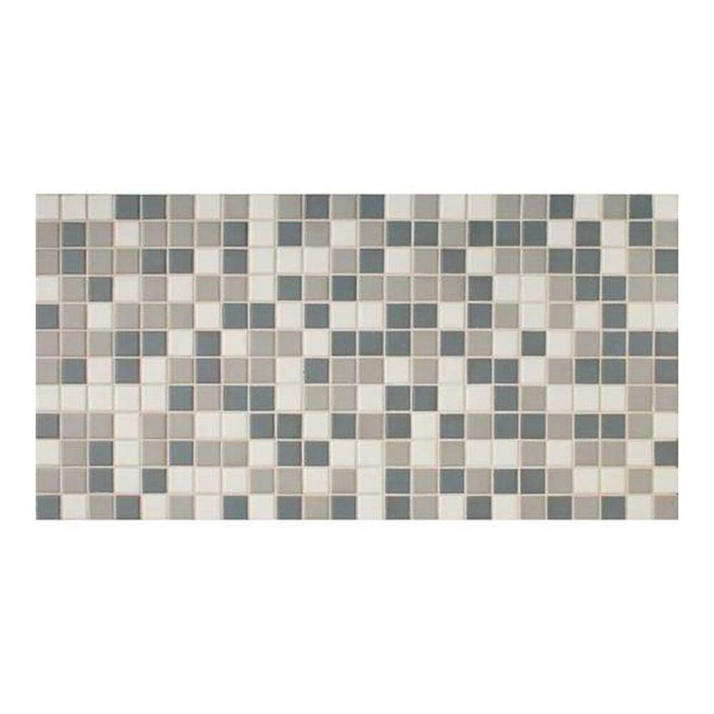 "Dal-Tile Keystone Blends Moonlight 12"" x 24"" Ceramic Mosaic Sheet, , large"