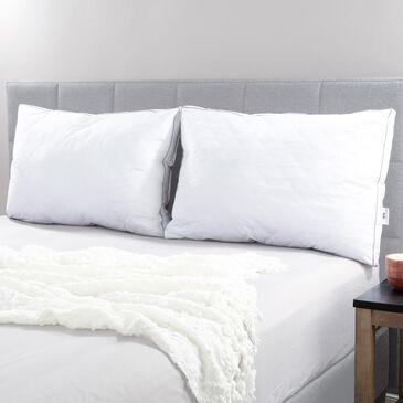 Timberlake Lavish Home Standard Pillows in White/Gray (Set of 2), , large