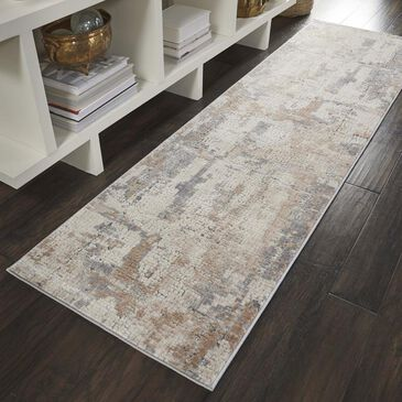 "Nourison Rustic Textures RUS06 2'2"" x 7'6"" Beige and Grey Runner, , large"