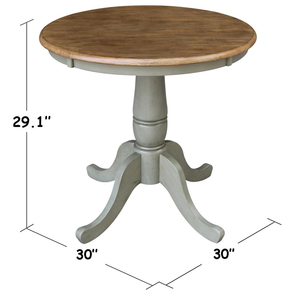 International Concepts San Remo 3-Piece Dining Set in Hickory/Stone, , large