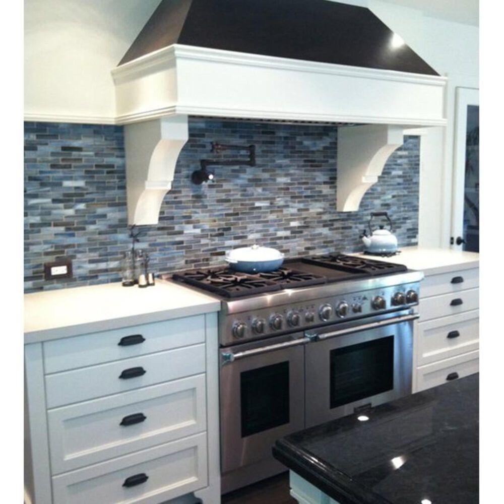 "Dal-Tile Glass Horizons Atlantic Blend 12"" x 12"" Glass Mosaic Sheet, , large"