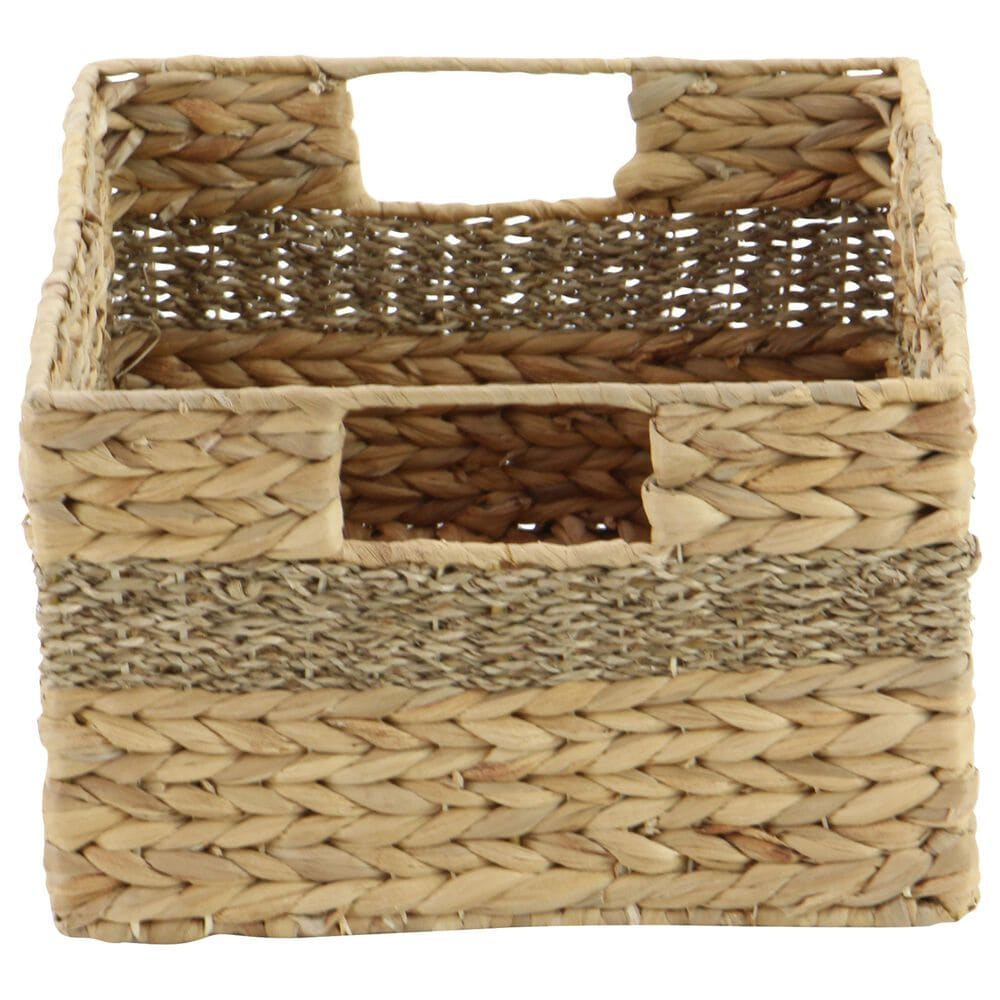 Maple and Jade Baskets with Handles in Beige (Set of 4), , large