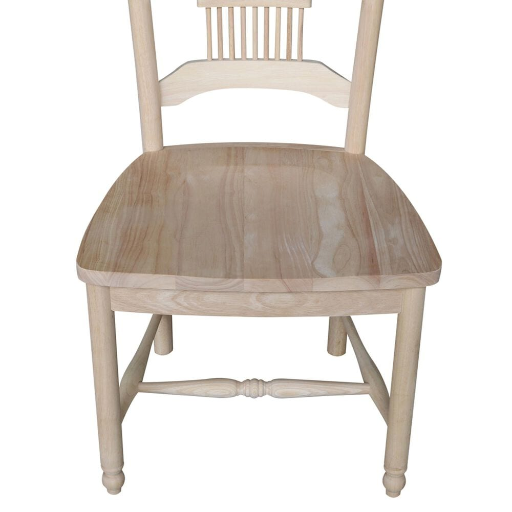 International Concepts Sheafback Chair in Unfinished (Set of 2), , large