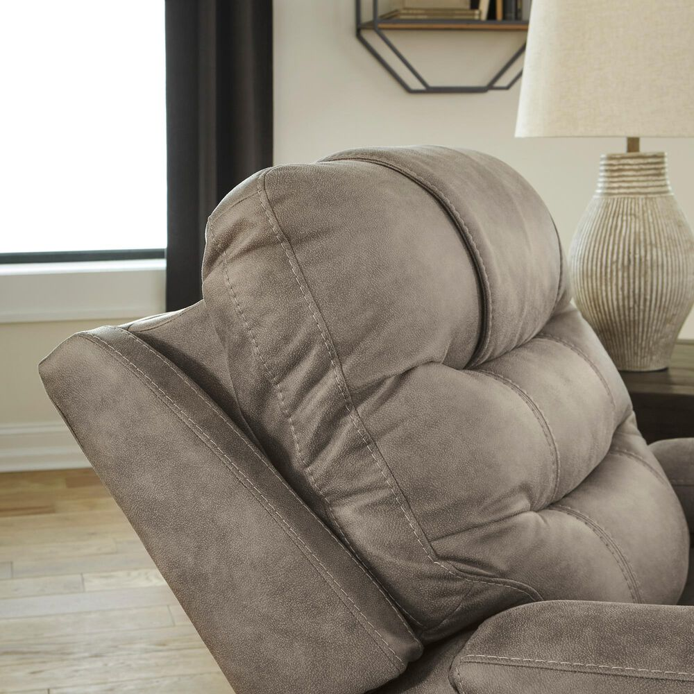 Signature Design by Ashley Yacolt Power Recliner with Power Headrest in Fog, , large