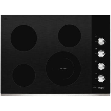 "Whirlpool 30"" Electric Ceramic Glass Cooktop in Stainless Steel, , large"