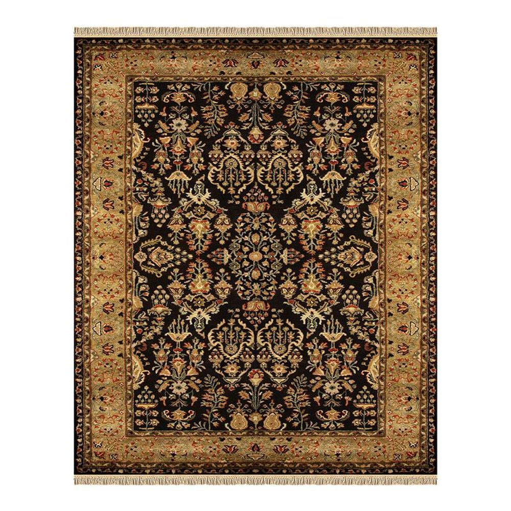 """Feizy Rugs Amore 8327F 2"""" x 3"""" Black/Gold Scatter Rug, , large"""