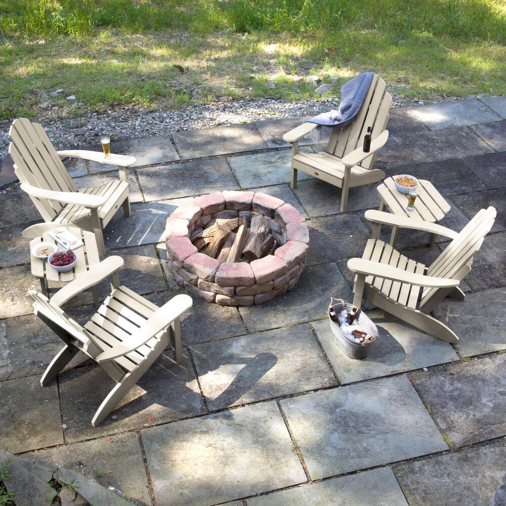 Highwood USA Classic Westport 6-Piece Adirondack Chair Set in Whitewash, , large