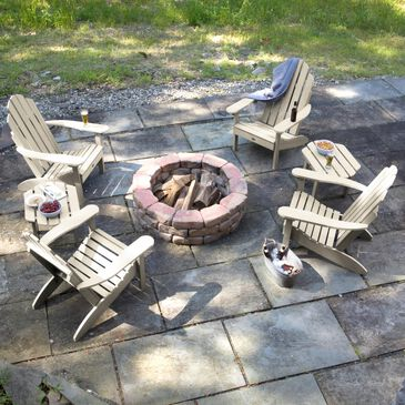 Highwood USA Classic Westport 6-Piece Adirondack Chair Set in Whitewash, , large