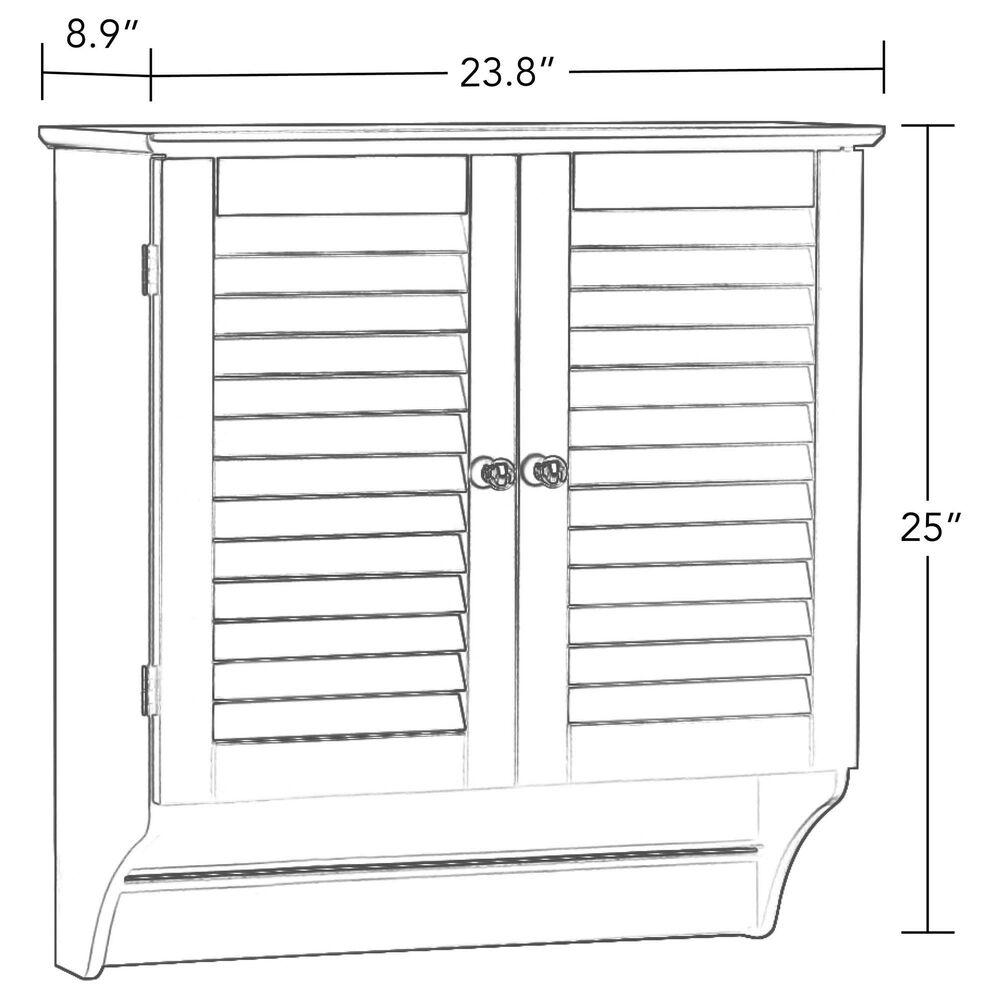 RiverRidge Home Ellsworth 2-Door Wall Cabinet in Taupe, , large