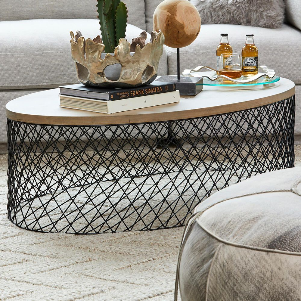Moe's Home Collection Celeste Coffee Table in Grey, , large