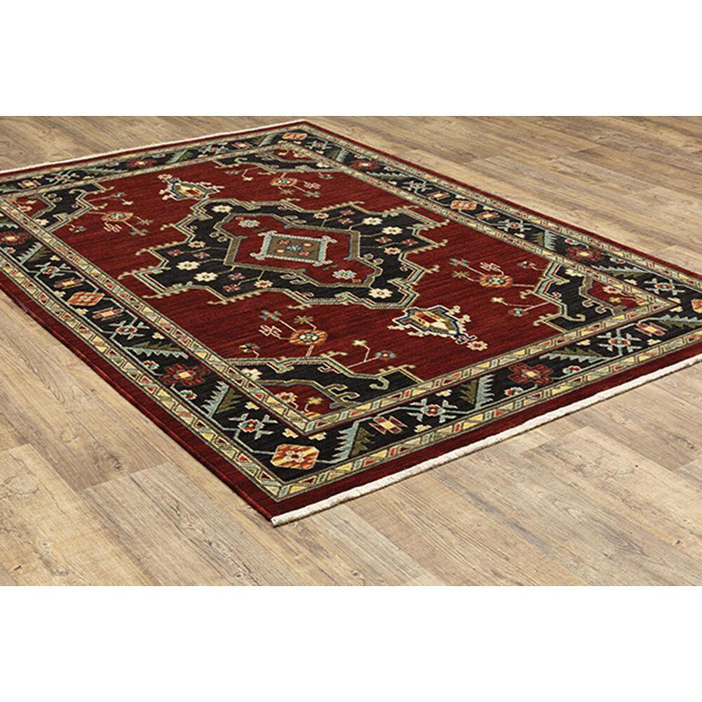 "Oriental Weavers Lilihan Medallion 092R6 9'10"" x 12'10"" Red Area Rug, , large"
