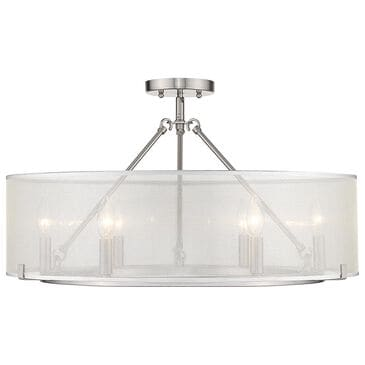 Golden Lighting Alyssa 6-Light Semi Flush in Silver/Pewter, , large