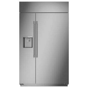 "Monogram 48"" Smart Built-In Side by Side Refrigerator in Stainless Steel, , large"