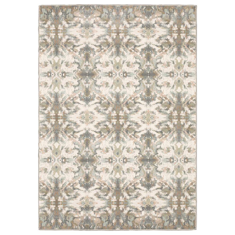 "Oriental Weavers Capistrano Distressed 535B1 7""10"" x 10""10"" White Area Rug, , large"