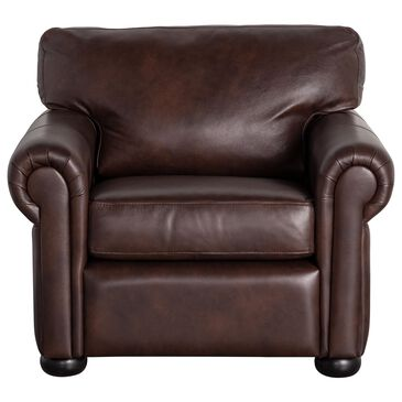 Vintage Leather Leather Chair in Anfield Dark Brown, , large