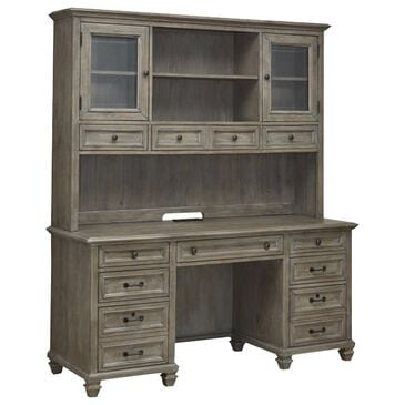 Nicolette Home Lancaster Credenza and Hutch in Dove Gray, , large
