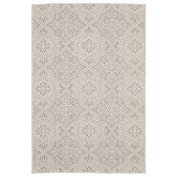 "Oriental Weavers Portofino Outdoor 2805W 6'7"" x 9'2"" Ivory and Gray Area Rug, , large"
