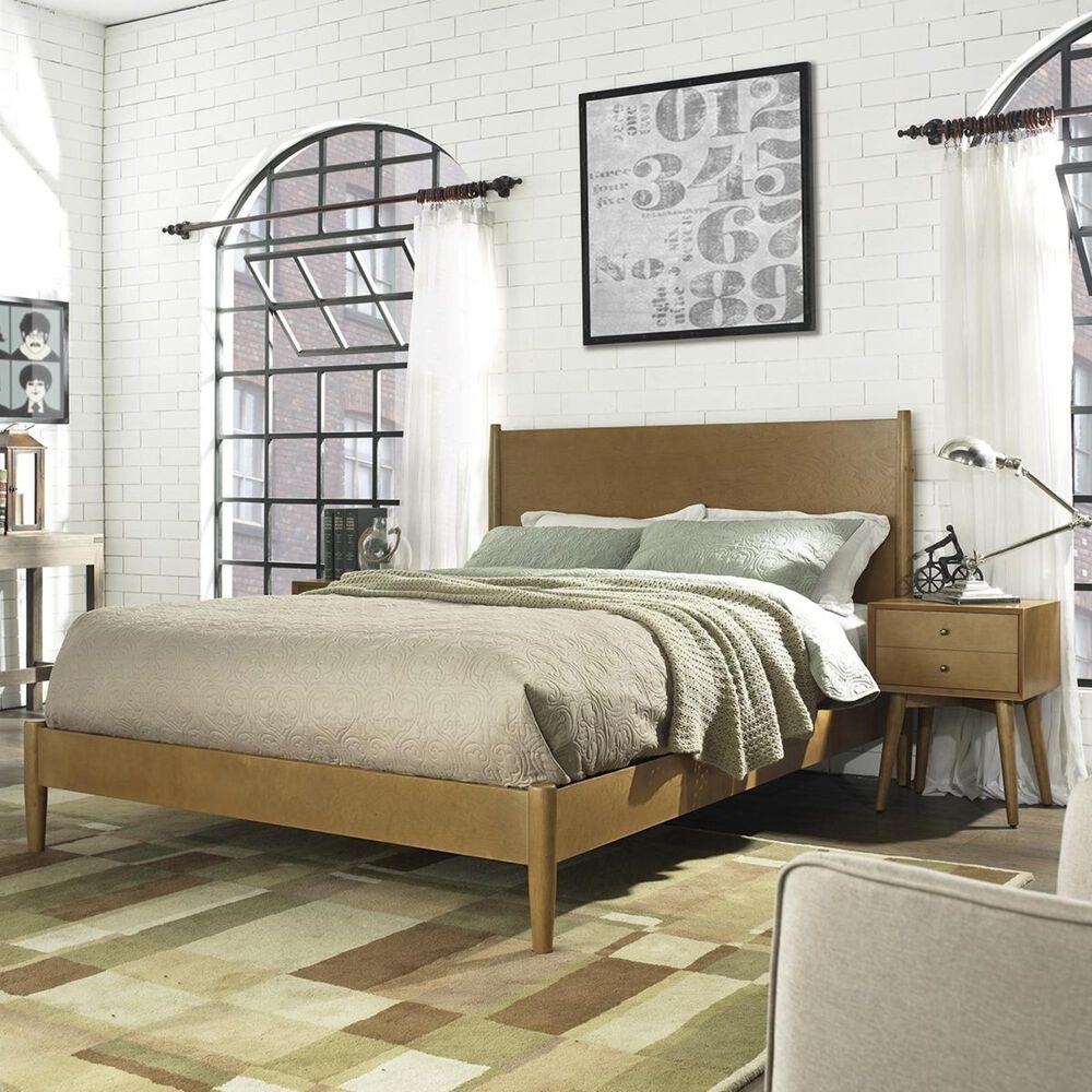 Crosley Furniture Landon King Platform Bed Set in Acorn, , large
