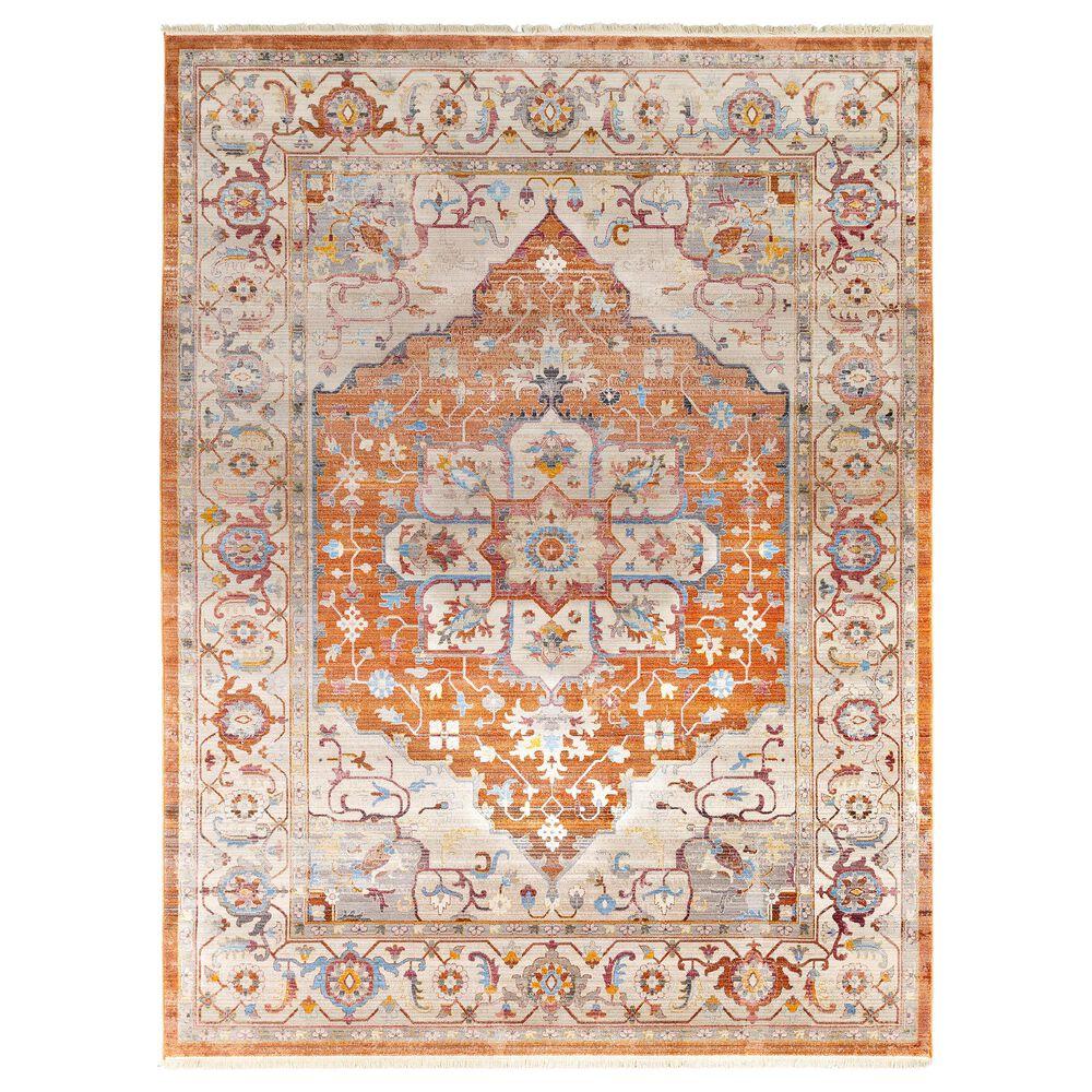 "Surya Ephesians 7'8"" x 10'2"" Orange, Pink, Gray, Cream, Aqua and Camel Area Rug, , large"