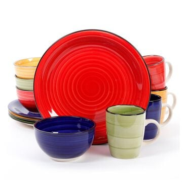 Gibson Home 12 Piece Vibes Dinner Set, , large