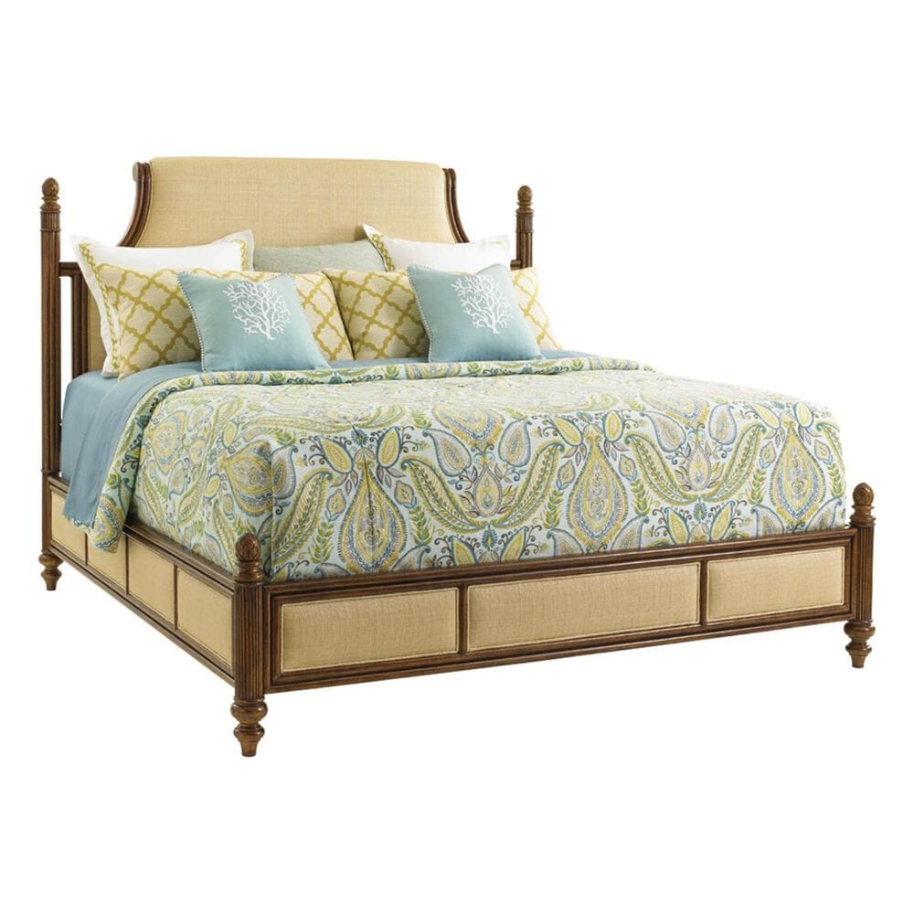 Tommy Bahama Home Bali Hai California King Orchid Bay Panel Bed in Warm Brown, , large