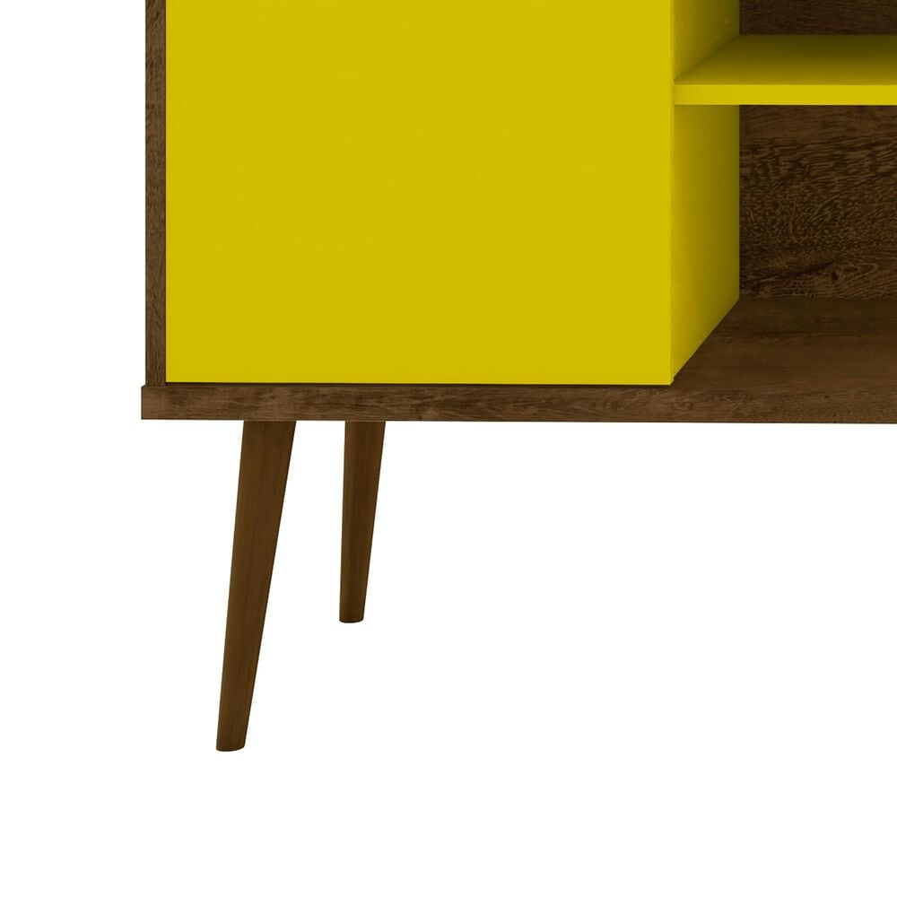 """Dayton Bradley 62.99"""" TV Stand in Rustic Brown/Yellow, , large"""