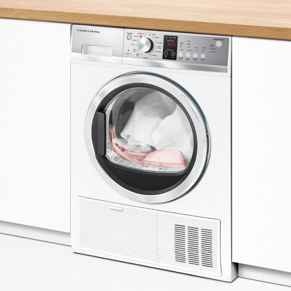 """Fisher and Paykel 24"""" Electric Dryer in White, , large"""