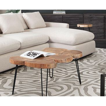 37B Joss Acacia Live Edge Rectangle Cocktail Table in Natural and Black, , large