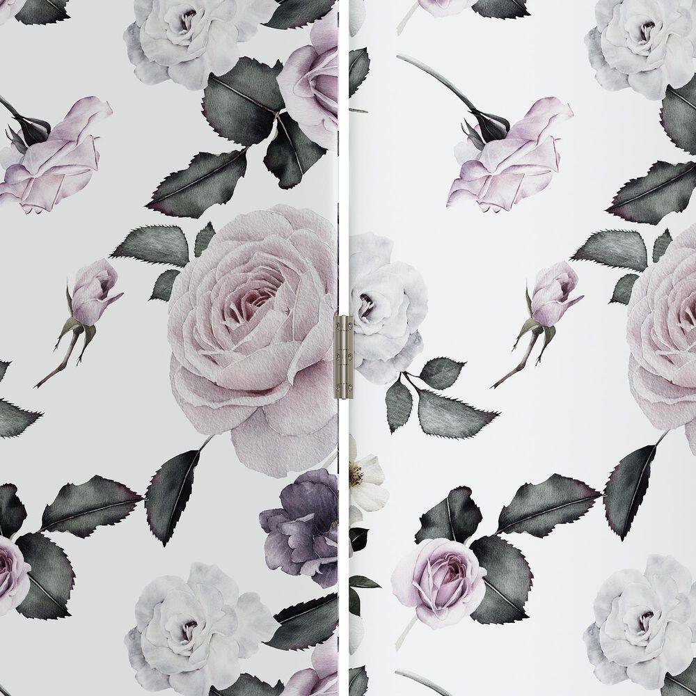 Skyline Furniture Upholstered Screen in Soft Floral Sage, , large
