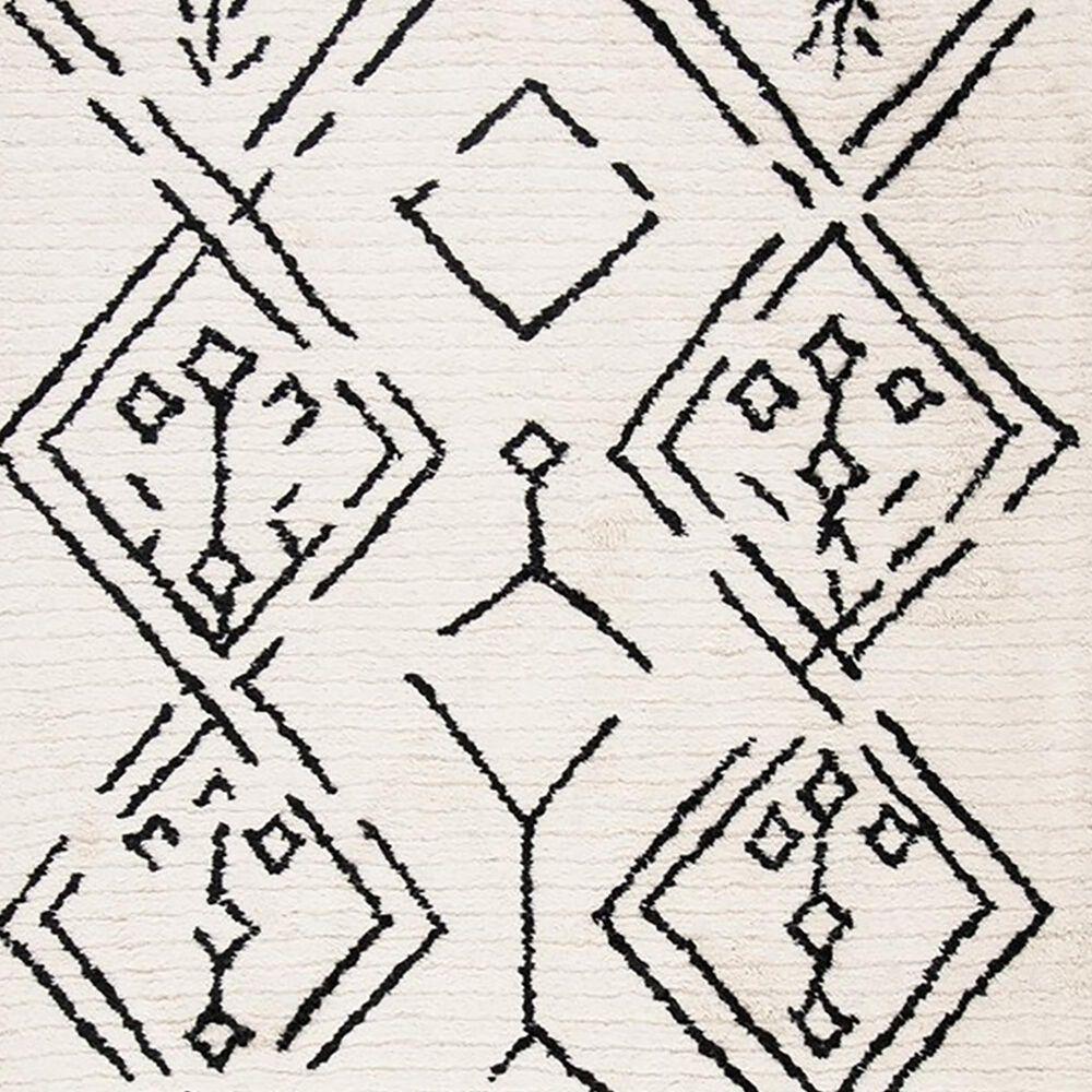 Safavieh Casablanca CSB201Z 5' x 8' Ivory and Black Area Rug, , large