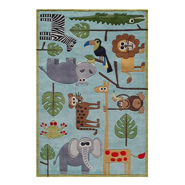 Little Dreamer Lil Mo Whimsy LMJ-19 3' x 5' Blue Kids Rug, , large
